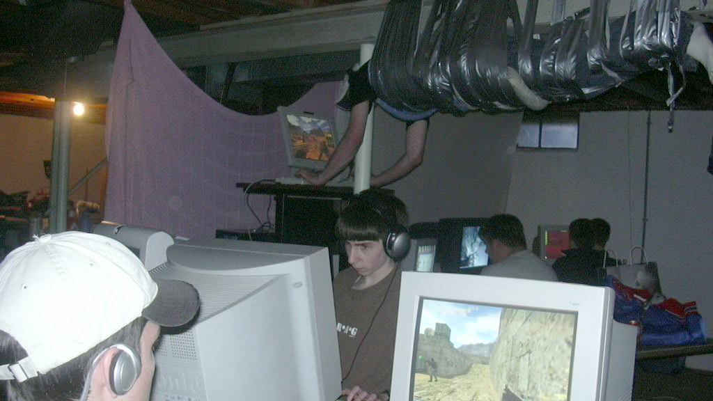 LAN party at steve's house